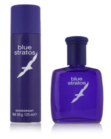 Blue Stratos 75ml Aftershave & 125ml Deodorant Set