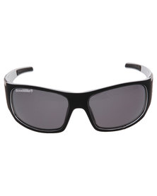 BondiBlu Matt Touch Wrap Triple Lense Polarised Sunglasses Black