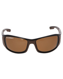 BondiBlu Two Tone Wrap Triple Lense Polarised Sunglasses Multi