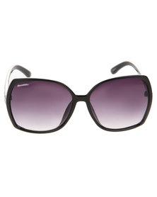BondiBlu Side Stud Square Sunglasses Black