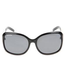Bondiblu Silver Stud Square Sunglasses Black