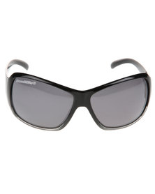 BondiBlu Ombre Square Tripe Lense Polarised Sunglasses Black