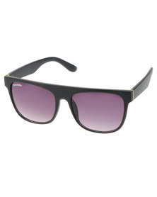 BondiBlu Flat Brow Sunglasses Black