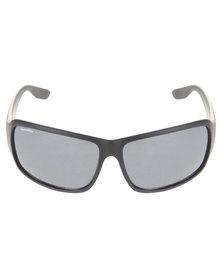 Bondiblu Smoke Lense Wrap Sunglasses Black