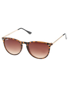 Bondiblu Tortoise Retro Sunglasses Brown With Free Gift