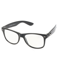 Bondiblu Classic Clear Lens Wayfarer Glasses Black With Free Gift