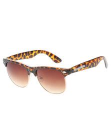 Bondiblu Tortoise Clubmaster Sunglasses Brown With Free Gift