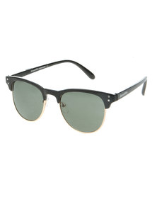 Bondiblu Clubmaster Black and Gold Sunglasses