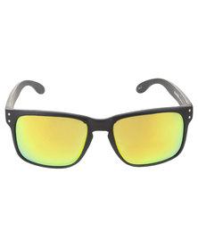 Bondiblu Square Mirror Matt Frame Sunglasses Black
