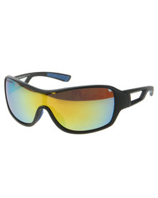 Bondiblu Platinum Polarised Shield Sunglasses Black