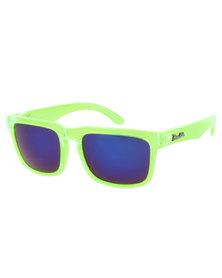 Bondiblu Blue Lens Wayfarers Sunglasses Green