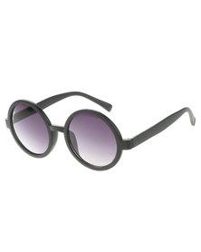 Bondiblu Round Frame Sunglasses Black
