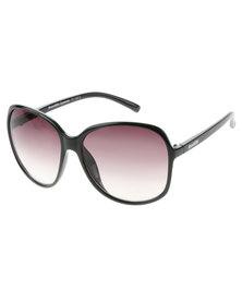 Bondiblu Oversized Gloss Frame Gradient Lens Sunglasses Black