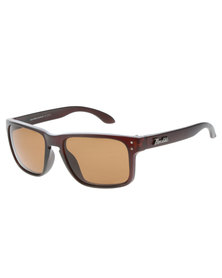 Black Matt Frame Brown Lens Sunglasses