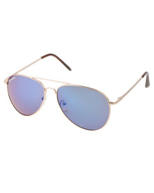 BondiBlu Colour Lens Aviator Blue/Silver