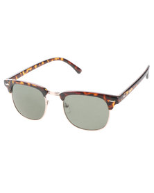 Bondiblu Tortoise Clubmaster Sunglasses Brown With Free Gift
