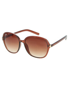 Bondiblu Opaque Frame Sunglasses Brown