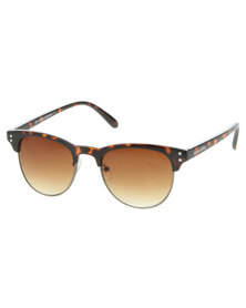 Bondiblu Tortoise Clubmaster Sunglasses Brown