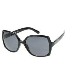 Bondiblu Oversized Square Sunglasses Black