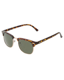 BondiBlu Demi Clubmaster Sunglasses Brown