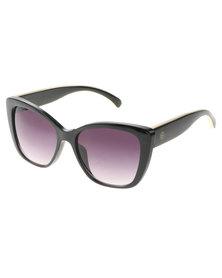 BondiBlu Large Cats-Eye Sunglasses Black