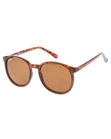 Bondiblu Round Tortoise Sunglasses Brown