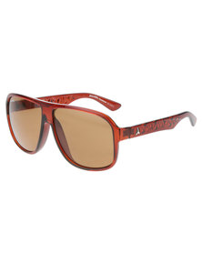 BondiBlu Oversized Aviator Sunglasses Brown