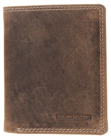 Bossi Hunbw Leather  Wallet Brown