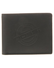 Bossi Leather Embossed Wallet Black