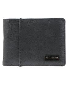 Bossi Metal Plate Bifold Wallet Grey