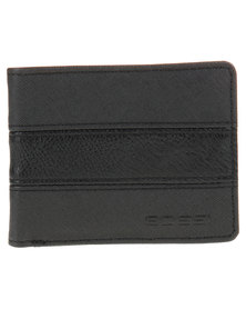 Bossi Panelled Wallet Black