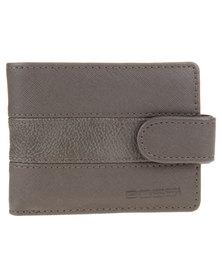 Bossi Panel Clasp Wallet Grey