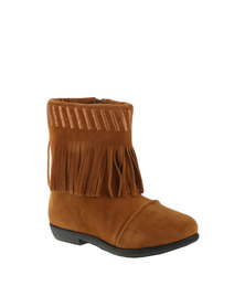 Bratz Fringed Ankle Boot Tan
