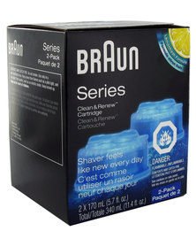 Braun Clean & Renew Cartridge 2-Pack (Lemonfresh)
