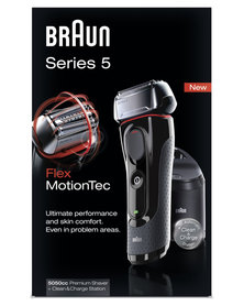 Braun Shaver 5050CC Premium Shaver + Clean & Charge Station Series 5