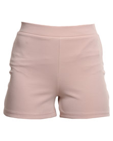 Brett Robson Shorts with Rose Gold Zip Beige