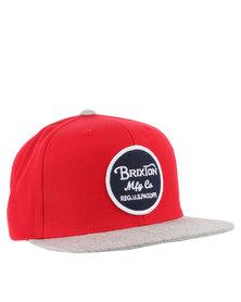 Brixton Wheeler Mesh Cap Red