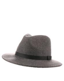 Brixton Messer Wool Fedora Hat Grey