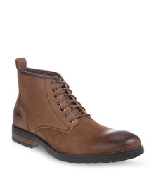 Bronx Men Trump Leather Boots Brown