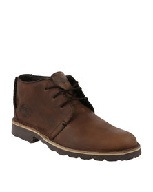 Bronx Men Jagter Leather Lace Up Boot Brown