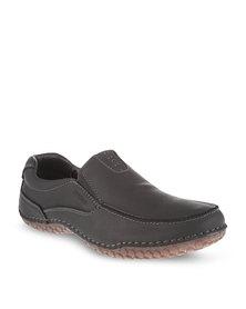 Bronx Men Kent Leather Loafers Black