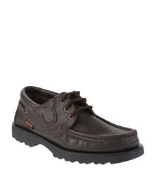 Bronx Kingfisher Leather Lace Up Shoes Brown