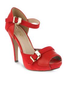 Bronx Women Naomi Peeptoe Heels Red