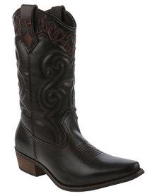 Bronx Women Westee Cowboy Boots Brown