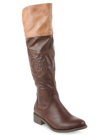 Bronx Women Elliott Knee-high Boots Brown