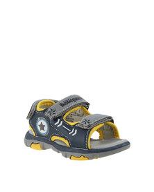 Bubblegummers Open Toe Adventure Sandals Navy