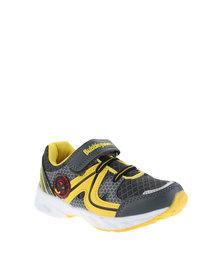 Bubblegummers Boys Velcro Strap Sneakers Grey/Yellow