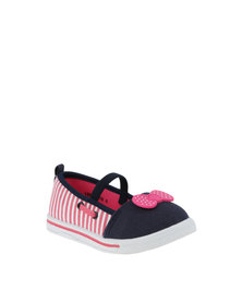 Bubblegummers Ballet Slip On Stripe Shoes Pink