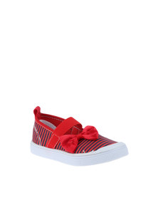 Bubblegummers Ballet Slip On Shoes Red