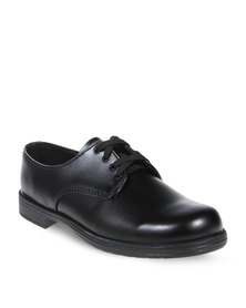 Buccaneer Classic Lace-Up School Shoes Black